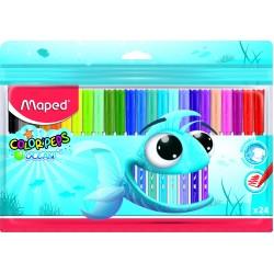 Μαρκαδόροι Maped Λεπτοί  Color'Peps Ocean 24 χρωμ.