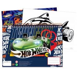 Μπλοκ Ζωγραφικής Gim Hot Wheels+Stickers